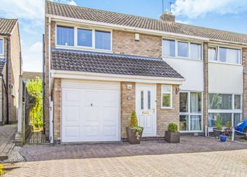 Thumbnail 3 bedroom semi-detached house for sale in Belper Close, Oadby, Leicester