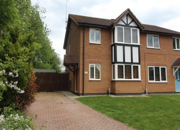 Thumbnail 3 bed semi-detached house for sale in Seaton Close, Yaxley, Peterborough