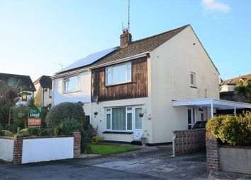 Thumbnail 3 bed semi-detached house for sale in Eveleigh Close, Brixham