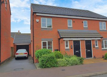 Thumbnail 3 bed semi-detached house for sale in Long Swath Way, Birstall, Leicester