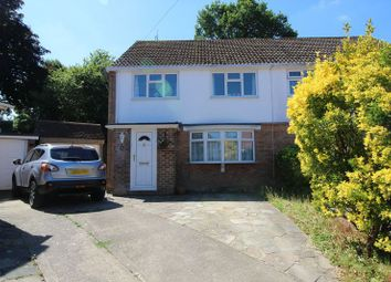 Thumbnail 3 bed semi-detached house for sale in Hardy Close, Crawley