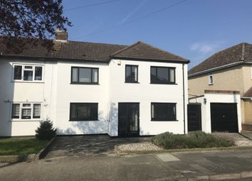 Thumbnail 3 bed semi-detached house for sale in Rosslyn Avenue, Harold Wood, Romford