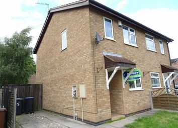 Thumbnail 2 bedroom semi-detached house to rent in Brosdale Drive, Hinckley