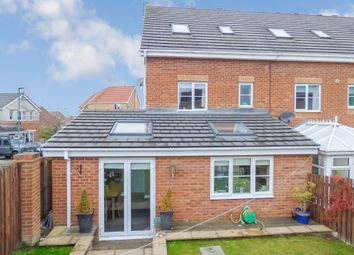 Thumbnail 4 bedroom town house for sale in Fenwick Way, Consett