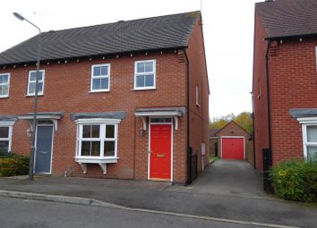 Thumbnail 3 bed semi-detached house for sale in Greenwich Avenue, Church Gresley, Swadlincote