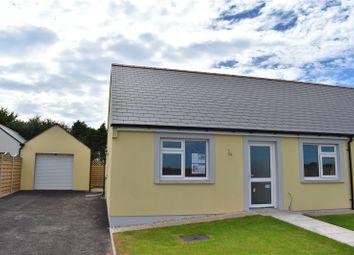Thumbnail 2 bedroom semi-detached bungalow for sale in Plot 9, Bowett Close, Hundleton, Pembroke