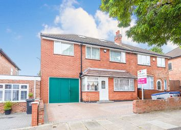 Thumbnail 4 bed semi-detached house for sale in Sheringham Road, Leicester
