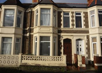 Thumbnail 3 bed terraced house to rent in Tewkesbury Street, Cardiff