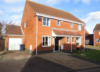 Thumbnail 3 bed semi-detached house for sale in Keel Close, Carlton Colville, Lowestoft