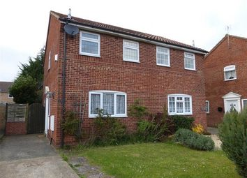 Thumbnail 2 bed semi-detached house to rent in Lapwing Road, Luton