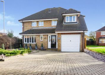 Thumbnail 4 bed detached house for sale in Eastrea Road, Peterborough