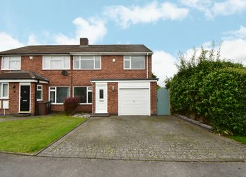 Thumbnail 3 bed semi-detached house for sale in Moorlands Drive, Shirley, Solihull