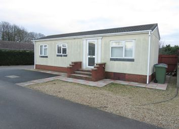 Thumbnail 2 bedroom mobile/park home for sale in Grove Park, Magazine Lane, Wisbech