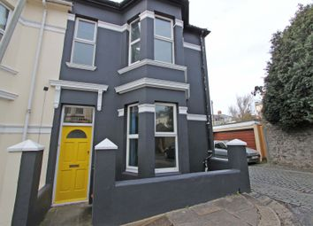 Thumbnail 3 bed end terrace house to rent in Rosebery Avenue, Plymouth