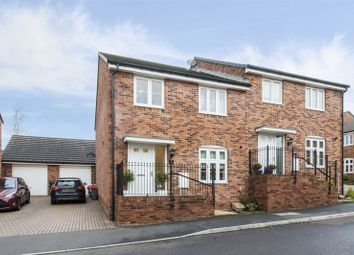 Thumbnail 4 bed semi-detached house for sale in Gloch Wen Close, Rhiwderin, Newport