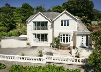 Thumbnail 4 bed detached house for sale in Ansteys Cove Road, Torquay