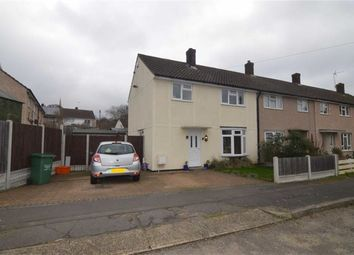 Thumbnail 3 bed end terrace house for sale in Elgar Close, Basildon, Essex