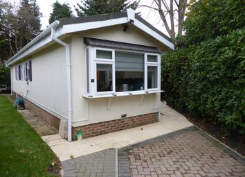 Thumbnail 1 bed mobile/park home for sale in Fangrove Park, Lyne, Chertsey, Surrey, 0Bn