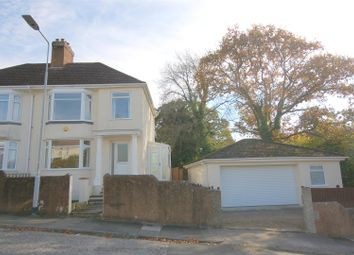 Thumbnail 3 bed semi-detached house for sale in Hirmandale Road, Higher St. Budeaux, Plymouth