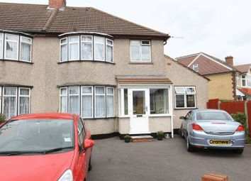 Thumbnail 4 bed semi-detached house for sale in Egham Crescent, North Cheam, Sutton