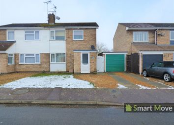 Thumbnail 3 bedroom semi-detached house for sale in Quorn Close, Newborough, Peterborough, Cambridgeshire.