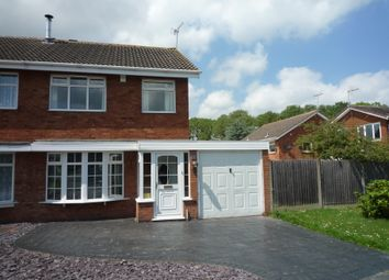 Thumbnail 3 bed semi-detached house to rent in Norman Road, Penkridge, Staffs
