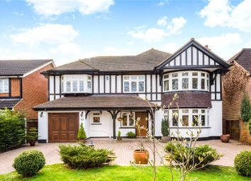 Thumbnail 4 bed detached house for sale in Great Woodcote Park, Purley