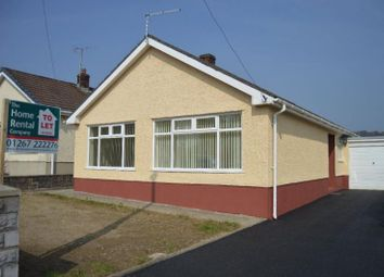 Thumbnail 3 bed bungalow to rent in Pentremeurig Road, Carmarthen