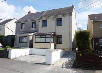 Thumbnail 2 bed semi-detached house for sale in Ty Newydd Crescent, Cross Hands