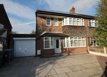 Thumbnail 4 bed semi-detached house for sale in Eddisbury Avenue, Urmston, Manchester