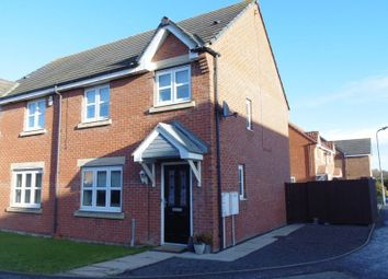 Thumbnail 3 bed semi-detached house for sale in Ladyburn Way, Hadston, Morpeth