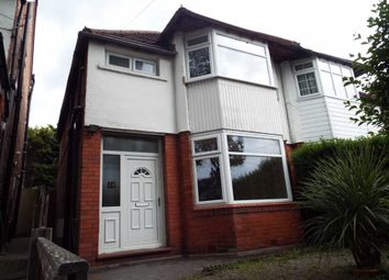 Thumbnail 3 bed semi-detached house to rent in Salisbury Drive, Prestwich, Manchester