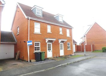 Thumbnail 3 bed semi-detached house to rent in Ensign Way, Diss