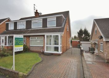 Thumbnail 3 bed semi-detached house for sale in Marston Close, Prenton, Wirral