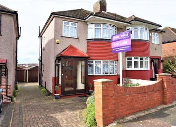 Thumbnail 3 bedroom semi-detached house for sale in Brockley Crescent, Romford