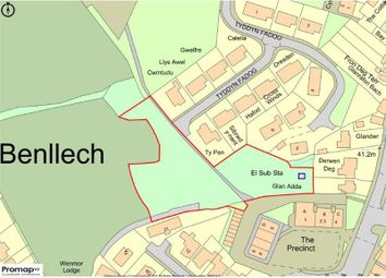 Thumbnail Land for sale in Land To The Rear Of, The Precinct Bryn Sirol, Bangor Road, Tyn Y Gongl, Wales