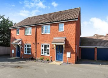 Thumbnail 3 bedroom semi-detached house for sale in Spearmint Way, Red Lodge, Bury St. Edmunds