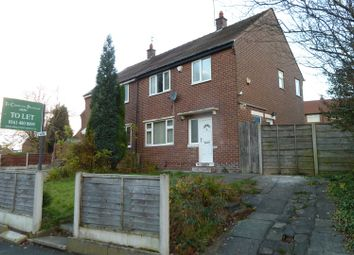 Thumbnail 3 bed semi-detached house to rent in Manor Road, Denton, Manchester