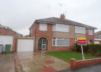 Thumbnail 3 bed property to rent in Gorsefield Avenue, Bromborough, Wirral