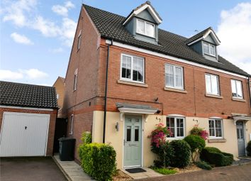 Thumbnail 3 bed semi-detached house for sale in Clover Way, Syston, Leicester, Leicestershire