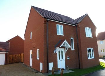 Thumbnail 4 bed detached house to rent in Woodgate Way, Aylsham, Norwich