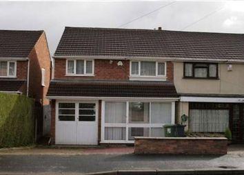 Thumbnail 3 bedroom semi-detached house to rent in Park Farm Road, Great Barr, Birmingham