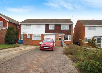 Thumbnail 3 bed semi-detached house for sale in Taw Close, Durrington, Worthing