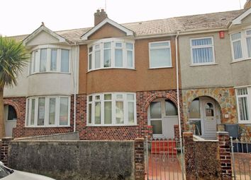 Thumbnail 3 bed terraced house for sale in Coombe Park Lane, West Park, Plymouth