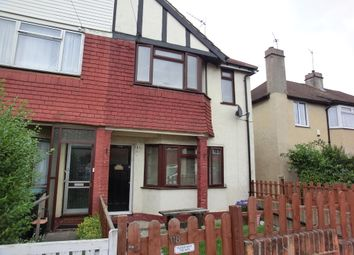 Thumbnail 2 bedroom semi-detached house to rent in St. Marks Avenue, Northfleet, Gravesend
