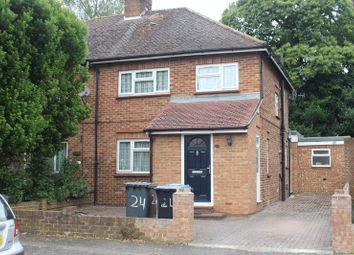 Thumbnail 1 bed semi-detached house to rent in Laurel Avenue, Englefield Green, Egham