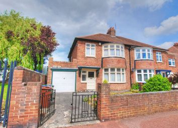 Thumbnail 3 bed semi-detached house for sale in Rokeby Drive, Kenton, Newcastle Upon Tyne