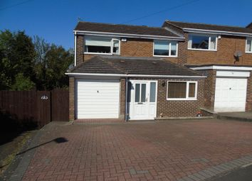 Thumbnail 3 bed semi-detached house for sale in Bywell Close, Ryton