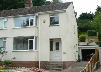 Thumbnail 3 bed semi-detached house to rent in Sherwell Valley Road, Chelston, Torquay