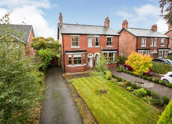 Thumbnail 4 bed semi-detached house for sale in Main Road, Goostrey, Crewe, Cheshire